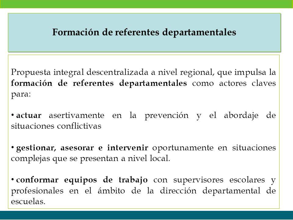 Formación de referentes departamentales