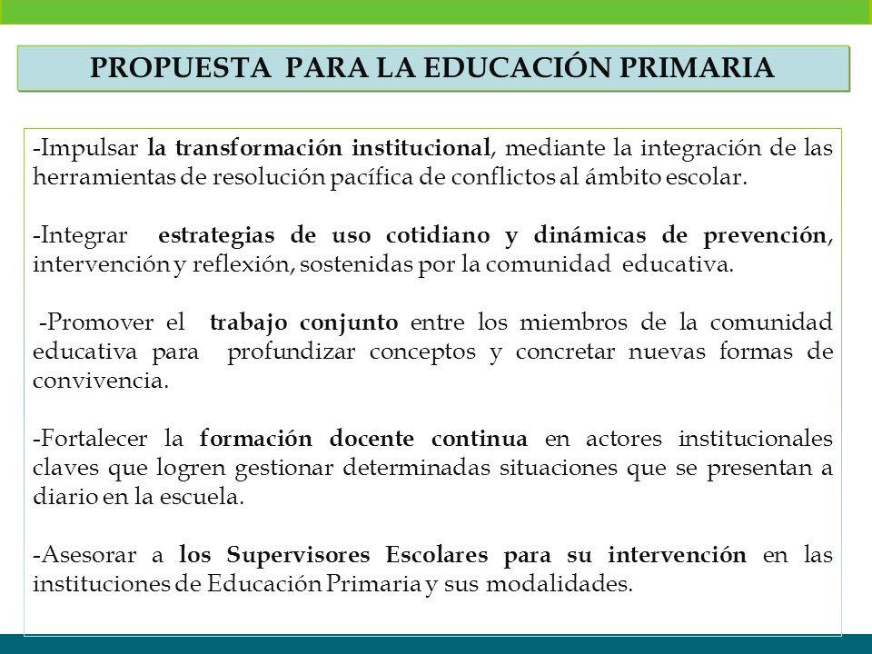 Propuesta PARA LA EDUCACIÓN PRIMARIA