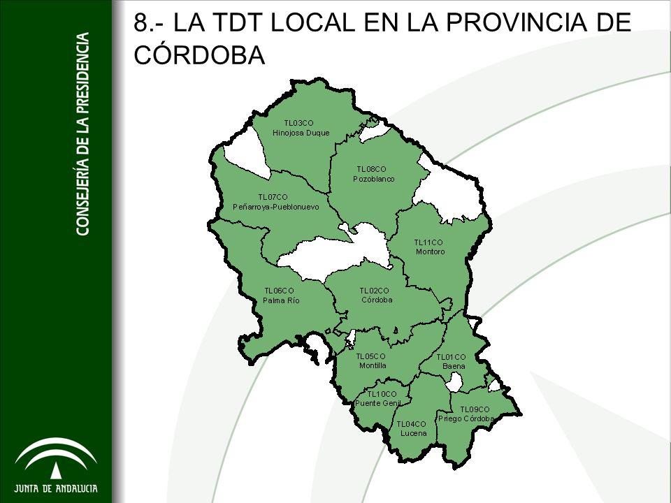 8.- LA TDT LOCAL EN LA PROVINCIA DE CÓRDOBA