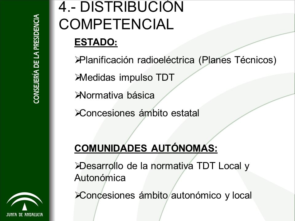 4.- DISTRIBUCIÓN COMPETENCIAL