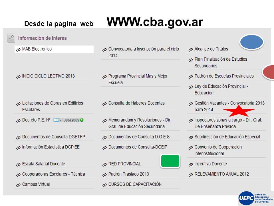 Desde la pagina web WWW.cba.gov.ar