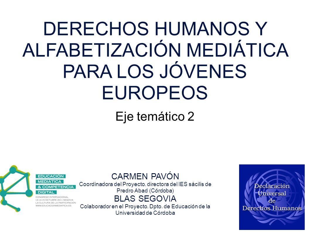 DERECHOS HUMANOS Y ALFABETIZACIÓN MEDIÁTICA PARA LOS JÓVENES EUROPEOS