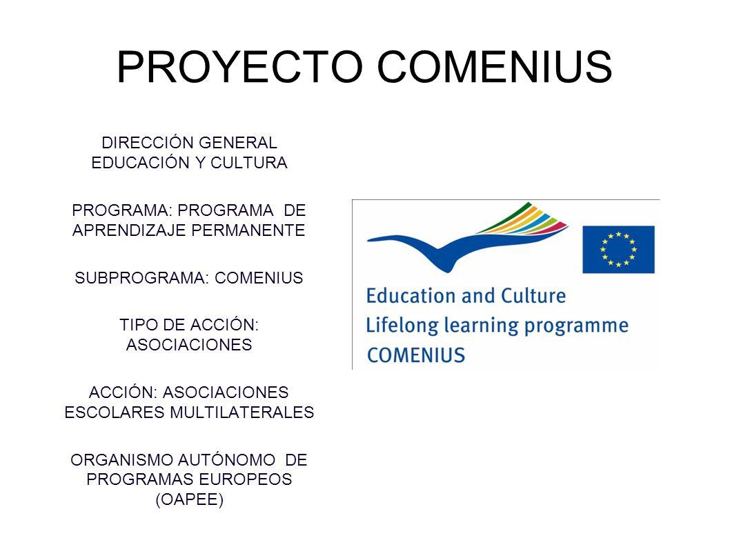 PROYECTO COMENIUS DIRECCIÓN GENERAL EDUCACIÓN Y CULTURA