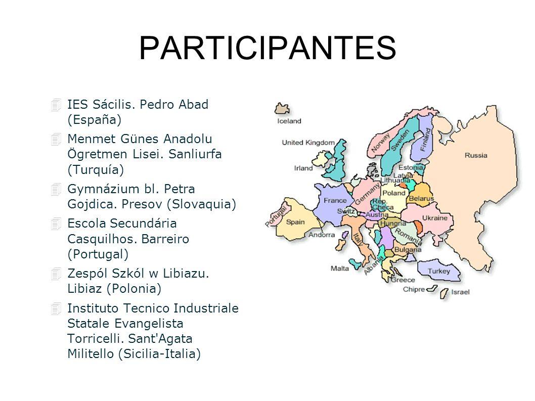 PARTICIPANTES IES Sácilis. Pedro Abad (España)