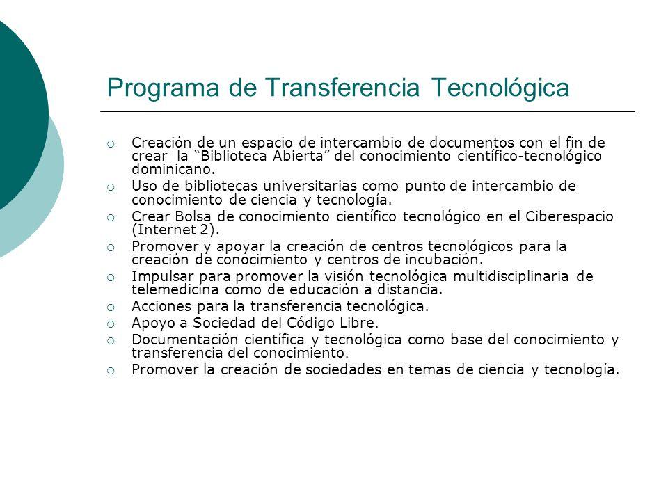 Programa de Transferencia Tecnológica