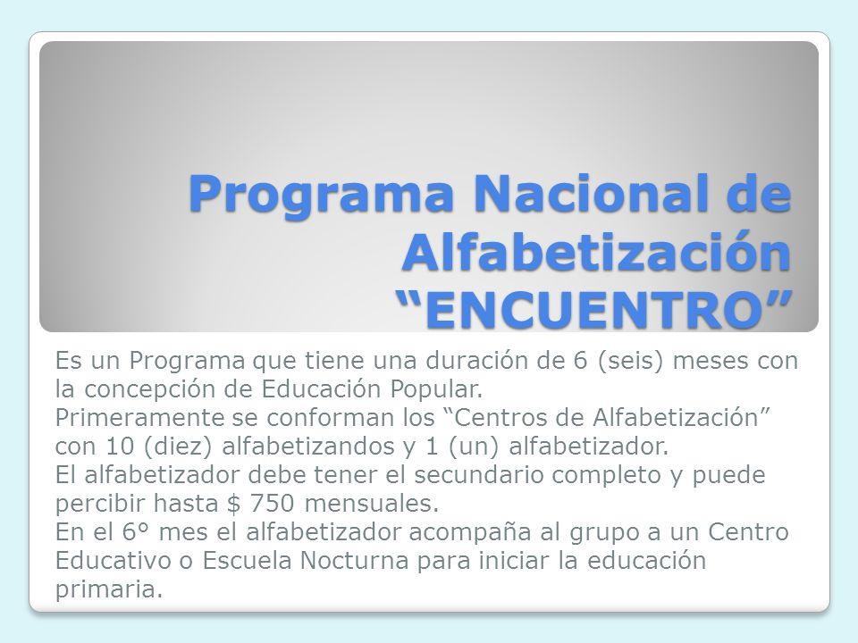 Programa Nacional de Alfabetización ENCUENTRO