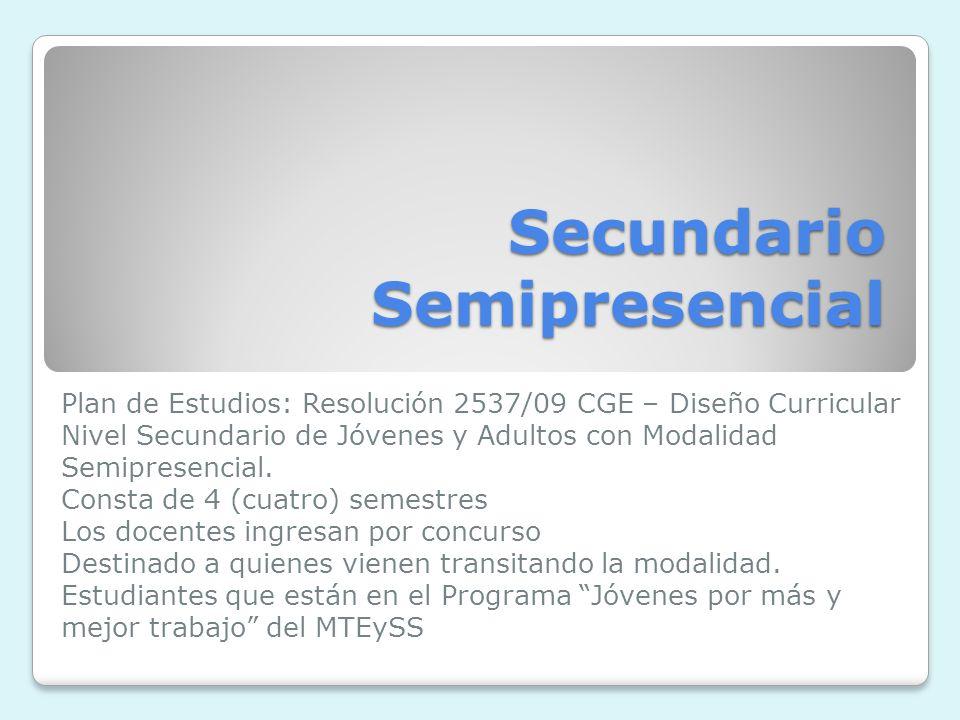 Secundario Semipresencial