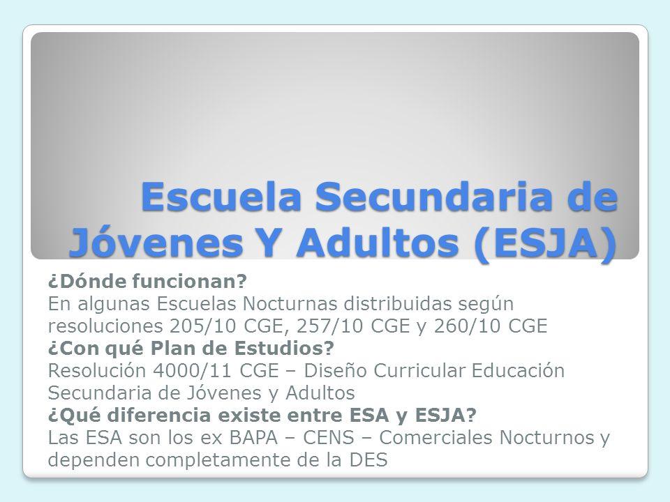 Escuela Secundaria de Jóvenes Y Adultos (ESJA)