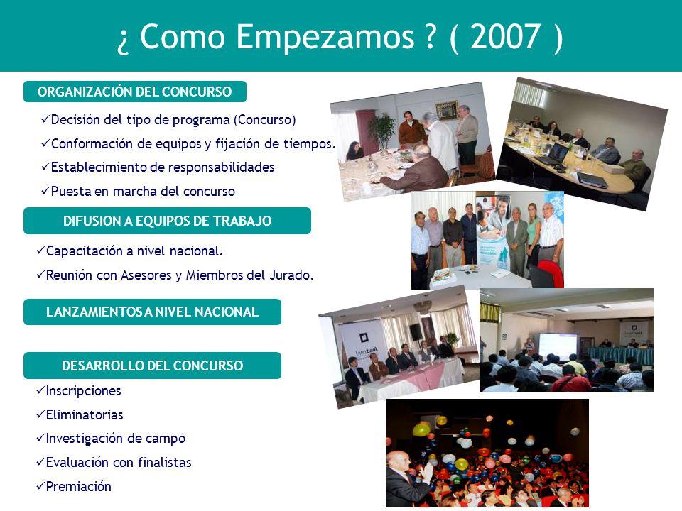 ¿ Como Empezamos ( 2007 ) ORGANIZACIÓN DEL CONCURSO