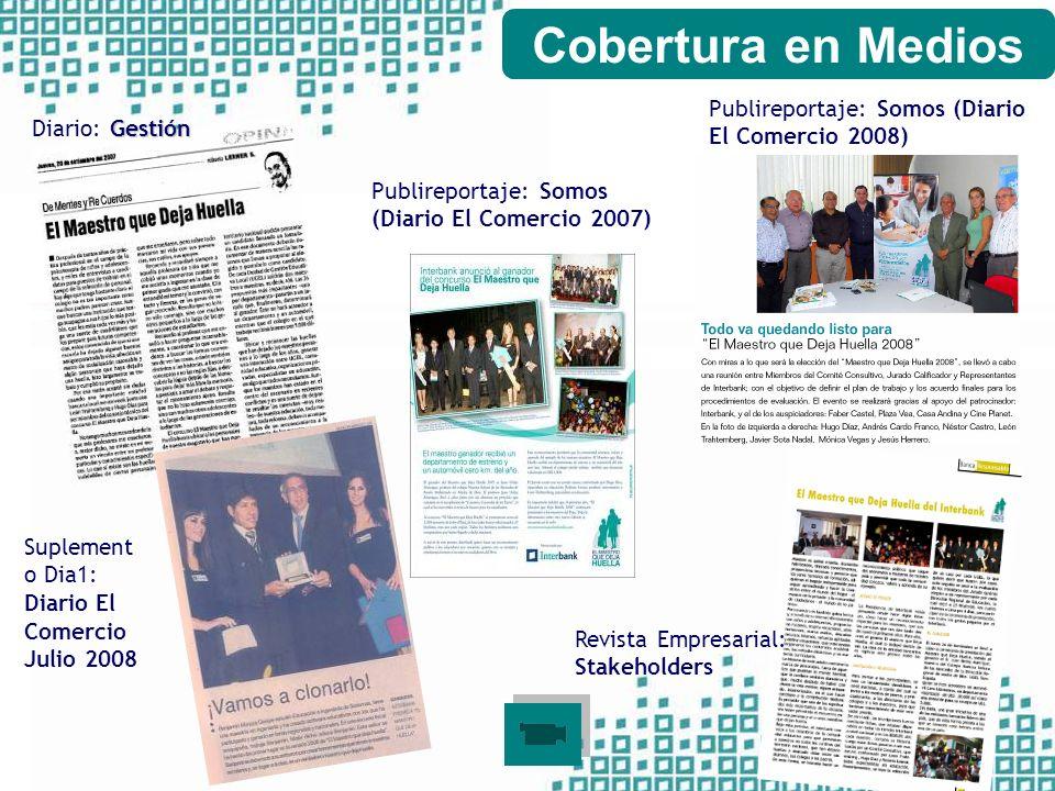 Cobertura en Medios Publireportaje: Somos (Diario El Comercio 2008)