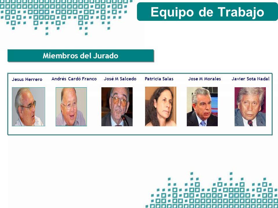 Equipo de Trabajo Miembros del Jurado Andrés Cardó Franco
