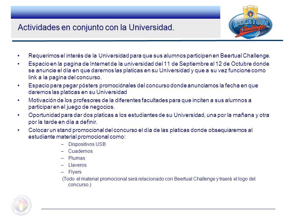 Actividades en conjunto con la Universidad.