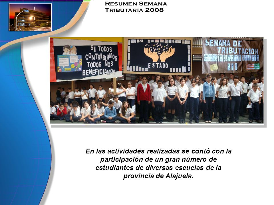 En las actividades realizadas se contó con la participación de un gran número de estudiantes de diversas escuelas de la provincia de Alajuela.