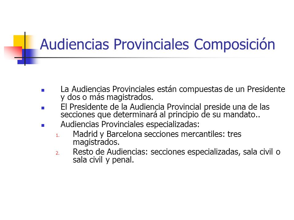 Audiencias Provinciales Composición