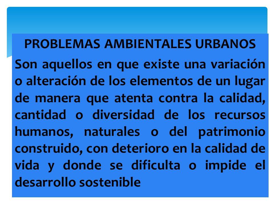 PROBLEMAS AMBIENTALES URBANOS