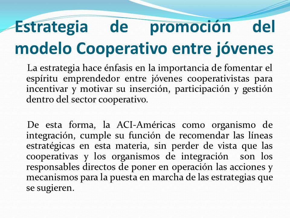 Estrategia de promoción del modelo Cooperativo entre jóvenes
