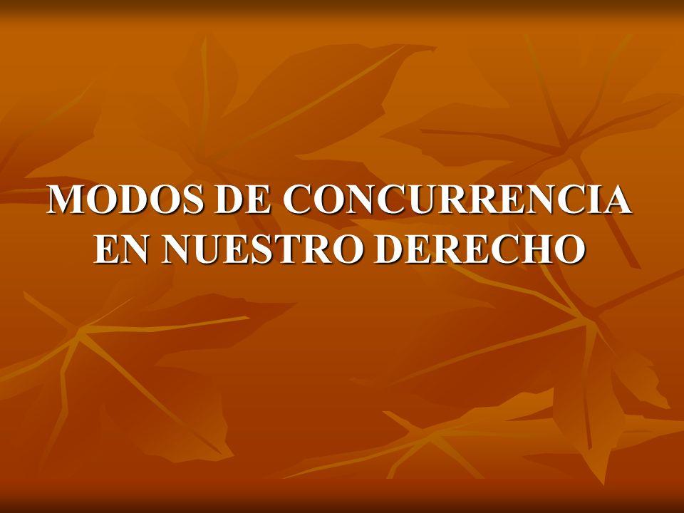 MODOS DE CONCURRENCIA EN NUESTRO DERECHO