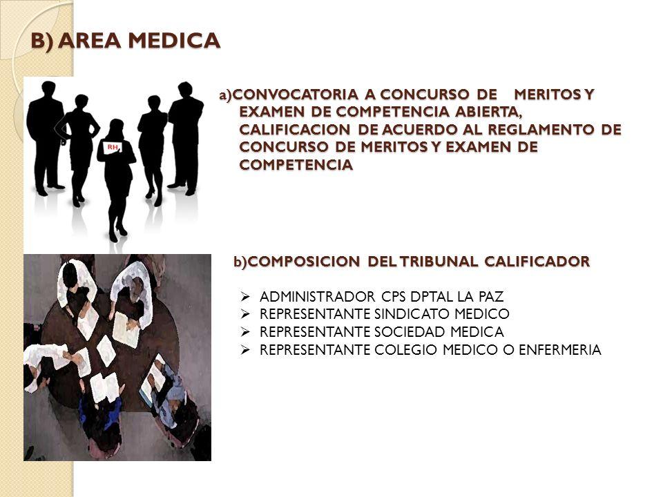 B) AREA MEDICA