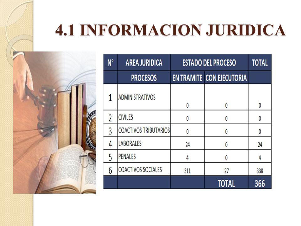 4.1 INFORMACION JURIDICA