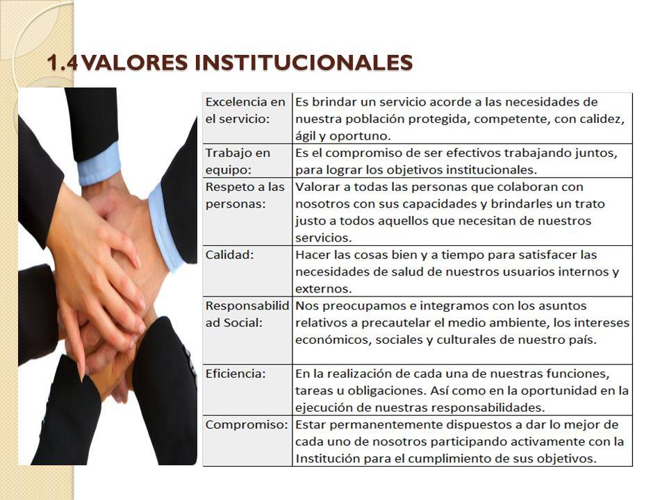 1.4 VALORES INSTITUCIONALES