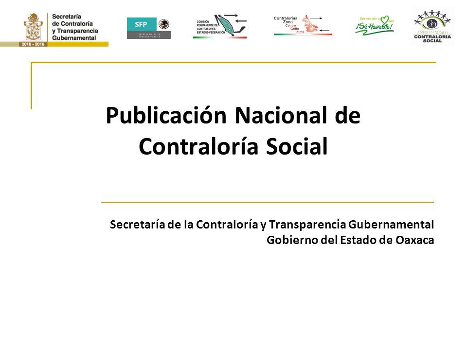 Publicación Nacional de Contraloría Social