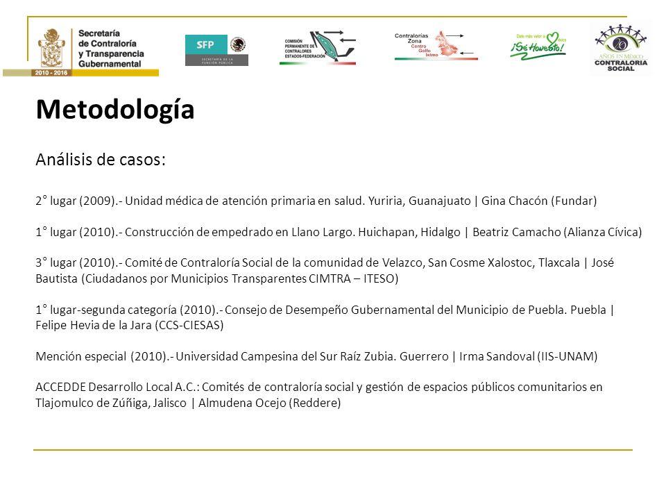 Metodología Análisis de casos: