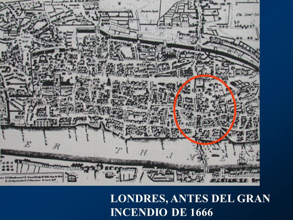 LONDRES, ANTES DEL GRAN INCENDIO DE 1666