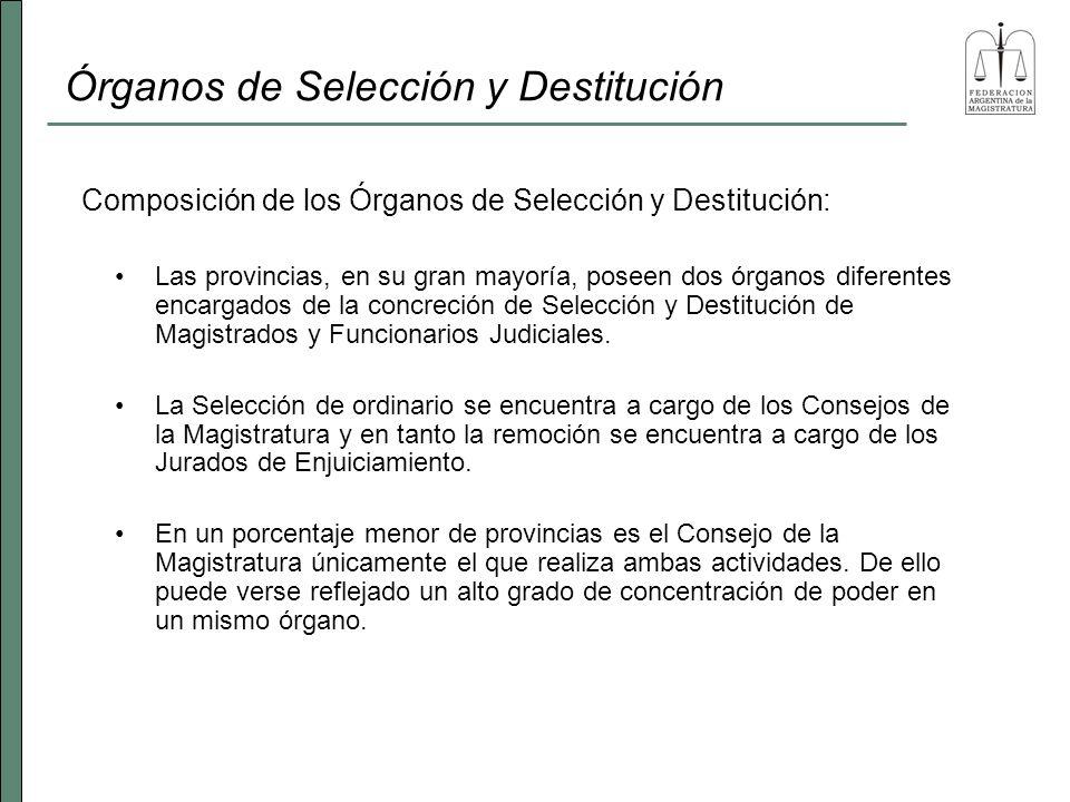 Órganos de Selección y Destitución