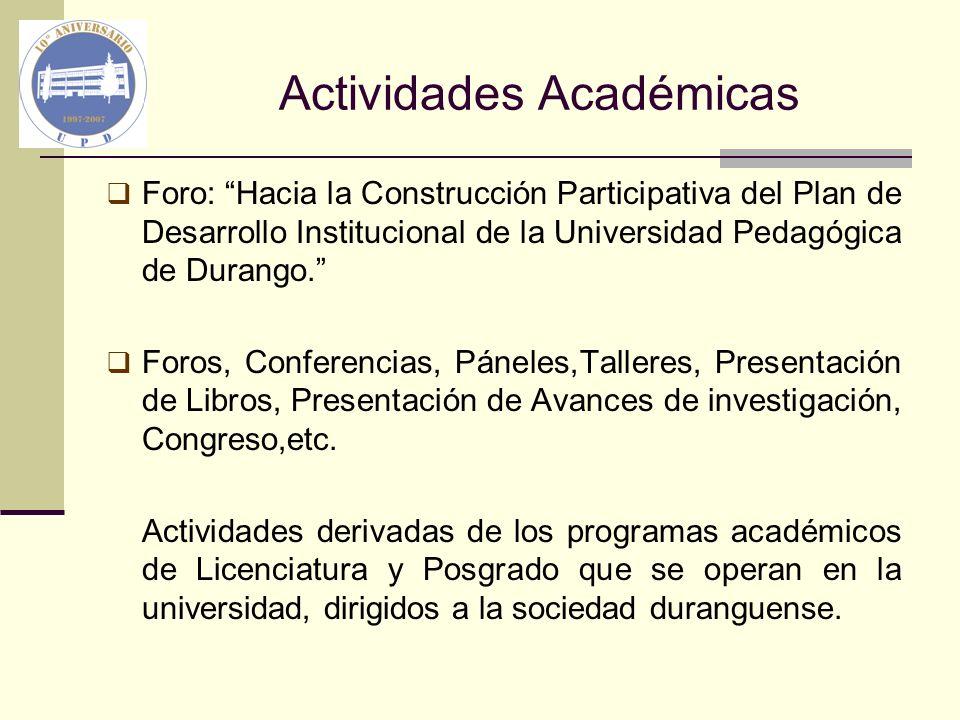 Actividades Académicas