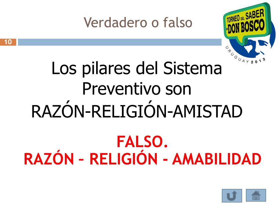 RAZÓN – RELIGIÓN - AMABILIDAD