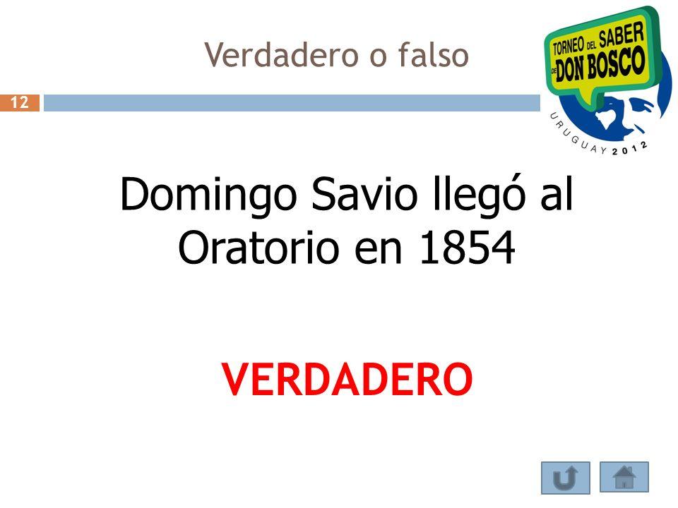 Domingo Savio llegó al Oratorio en 1854
