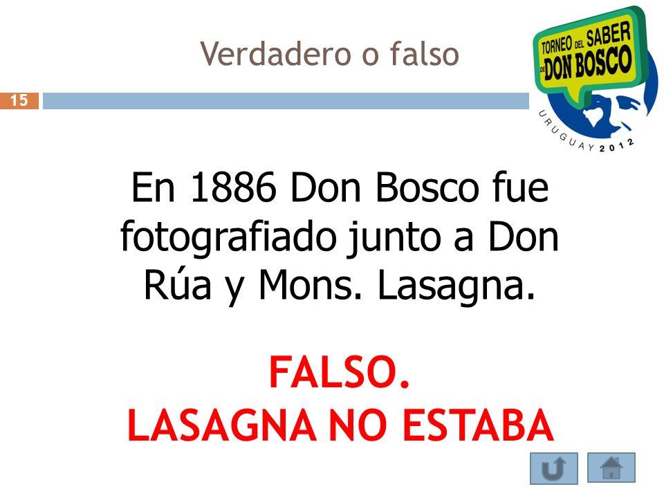 En 1886 Don Bosco fue fotografiado junto a Don Rúa y Mons. Lasagna.
