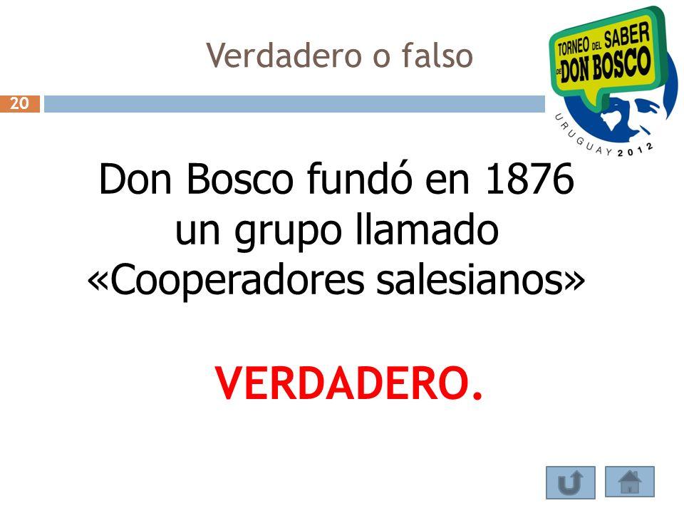 Don Bosco fundó en 1876 un grupo llamado «Cooperadores salesianos»