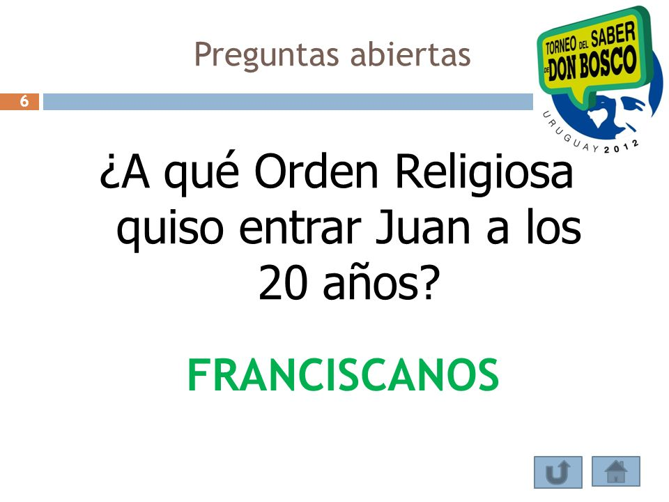 ¿A qué Orden Religiosa quiso entrar Juan a los 20 años