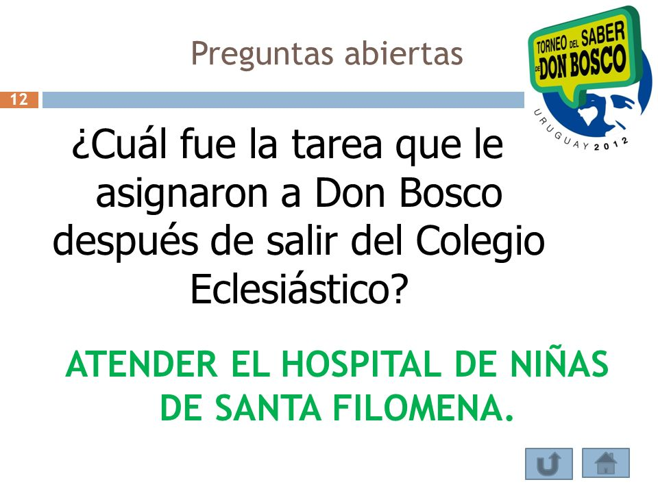 ATENDER EL HOSPITAL DE NIÑAS DE SANTA FILOMENA.