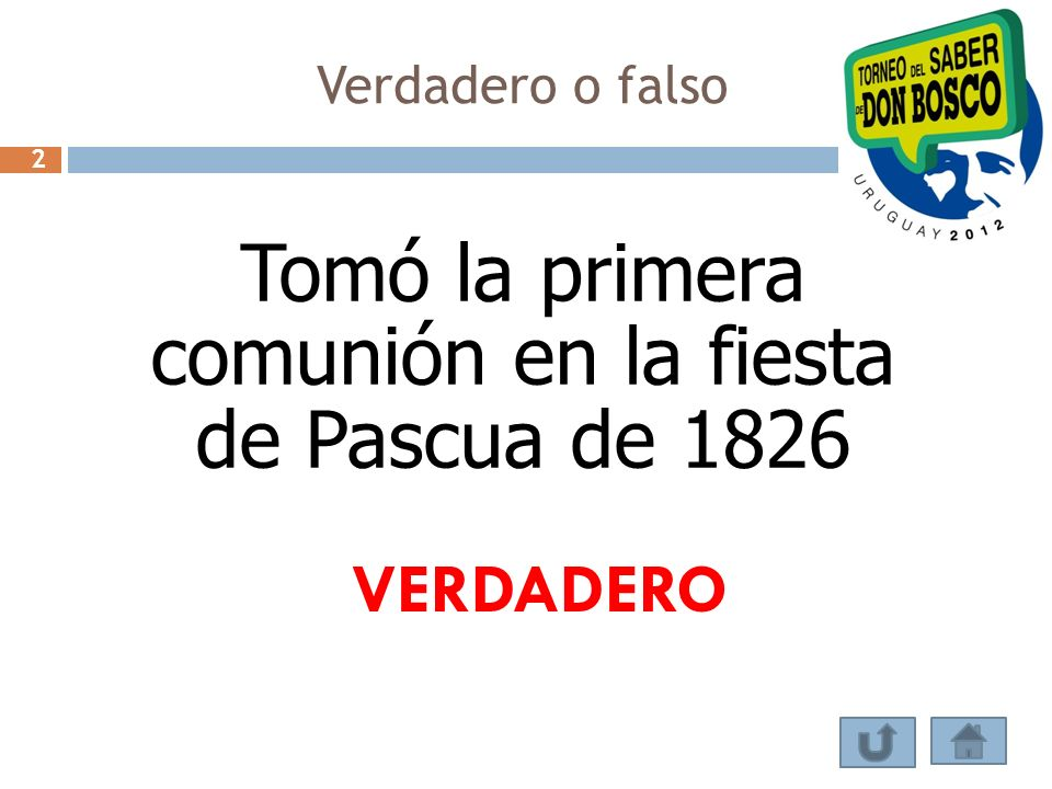 Tomó la primera comunión en la fiesta de Pascua de 1826