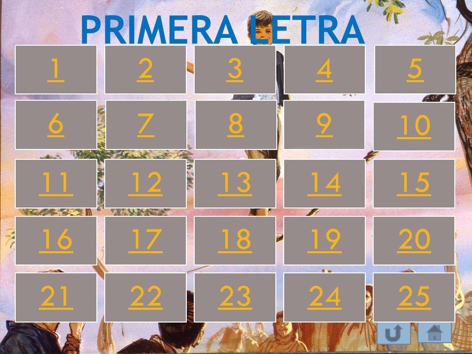 PRIMERA LETRA 1 2 3 4 5 6 7 8 9 10 11 12 13 14 15 16 17 18 19 20 21 22 23 24 25