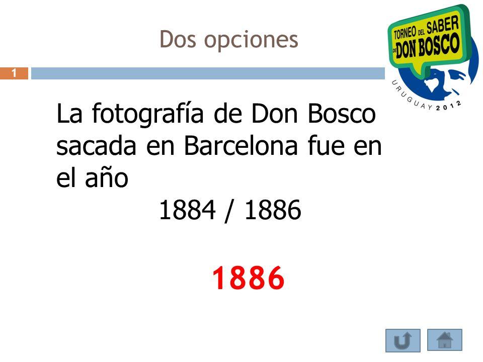 1886 La fotografía de Don Bosco sacada en Barcelona fue en el año