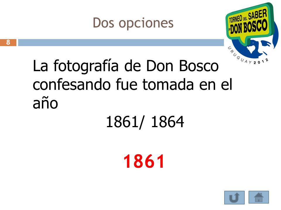 1861 La fotografía de Don Bosco confesando fue tomada en el año