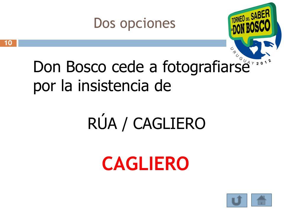 CAGLIERO Don Bosco cede a fotografiarse por la insistencia de
