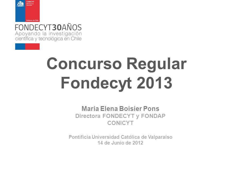 Concurso Regular Fondecyt 2013