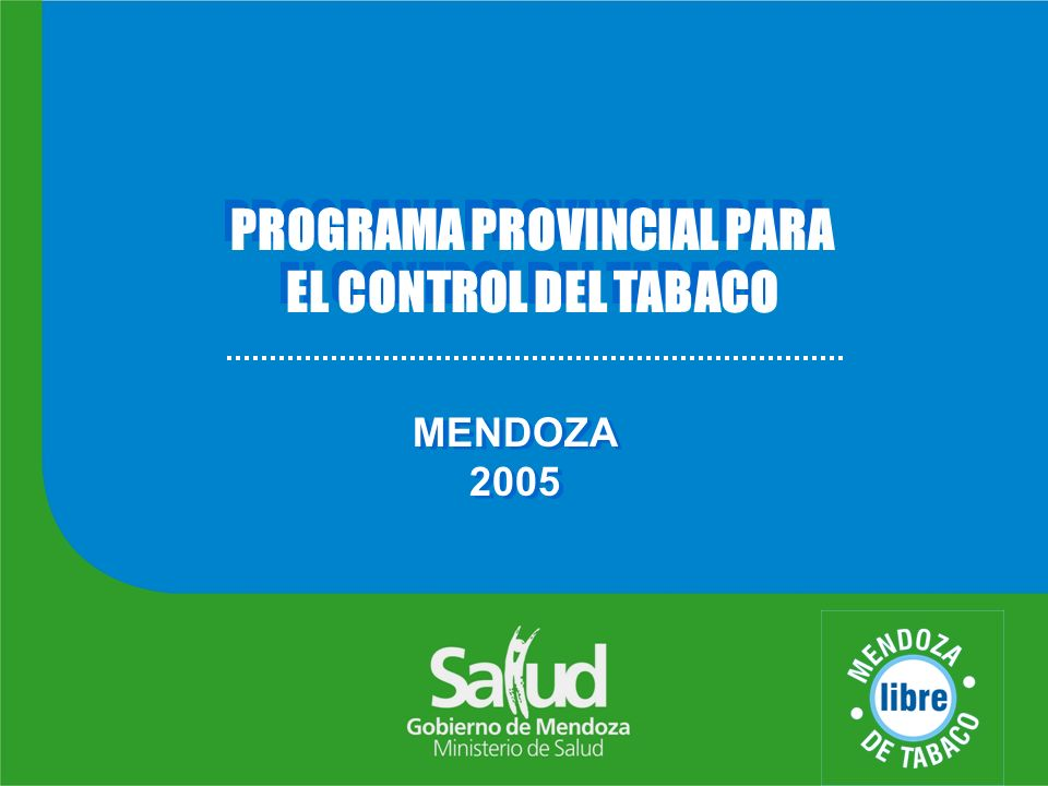 PROGRAMA PROVINCIAL PARA EL CONTROL DEL TABACO