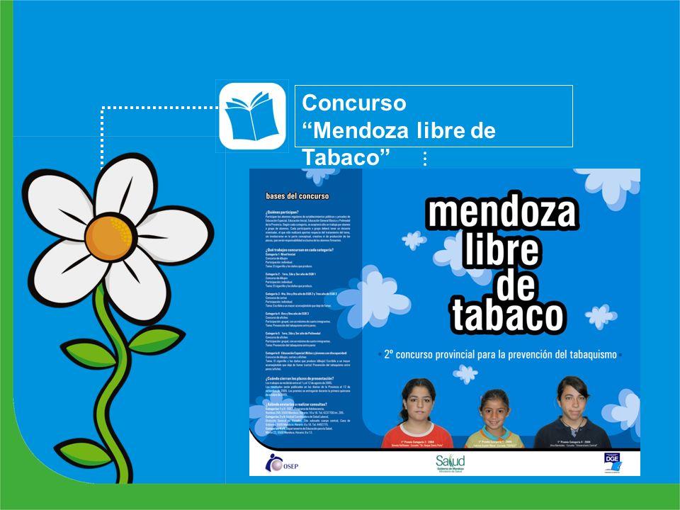 Concurso Mendoza libre de Tabaco