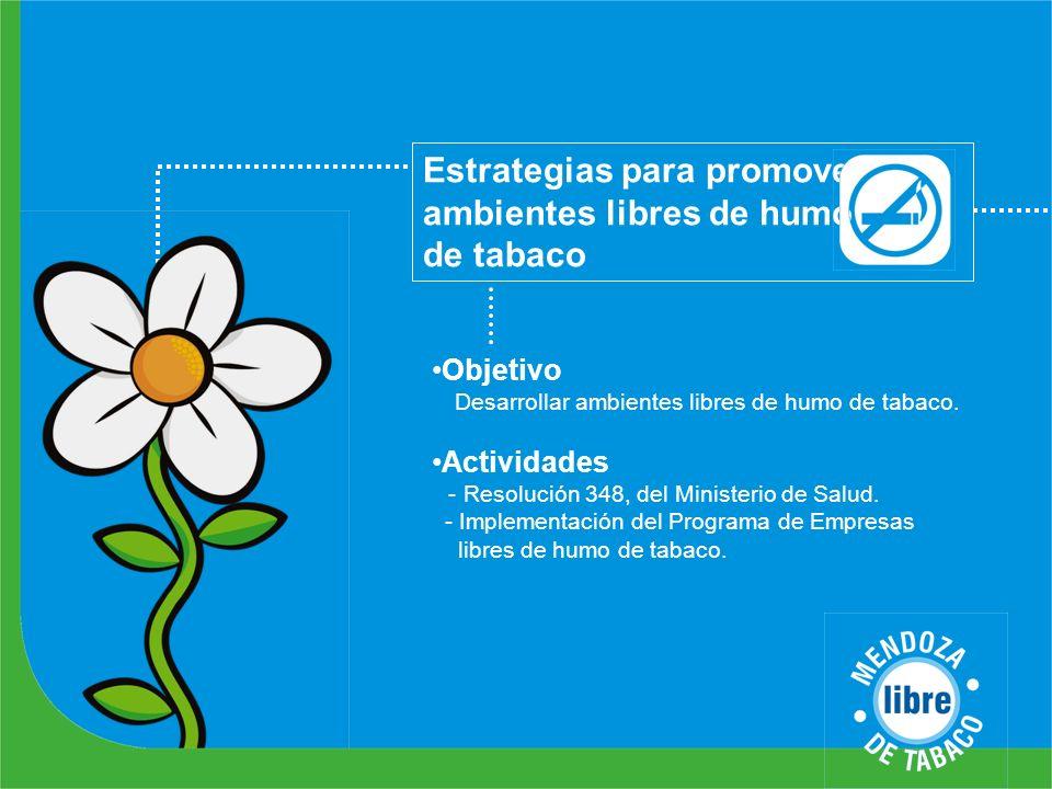 Estrategias para promover ambientes libres de humo de tabaco