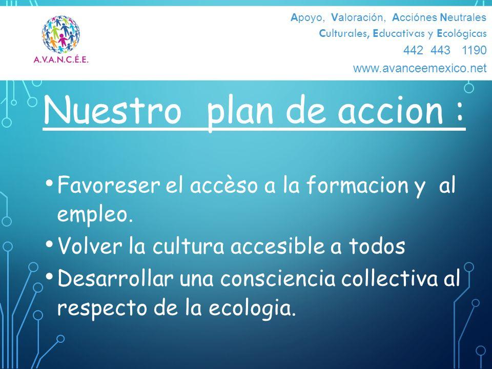 Nuestro plan de accion :