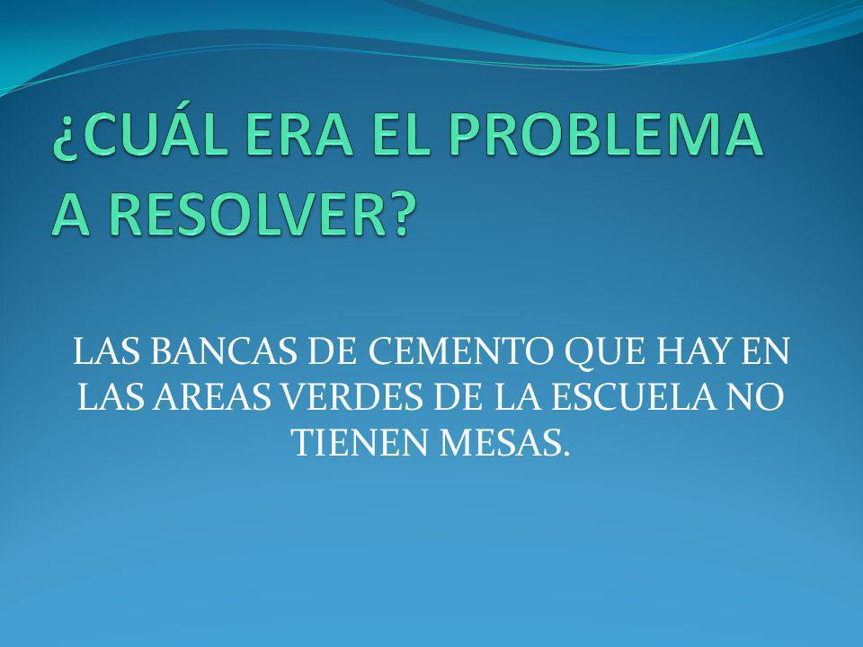 ¿CUÁL ERA EL PROBLEMA A RESOLVER
