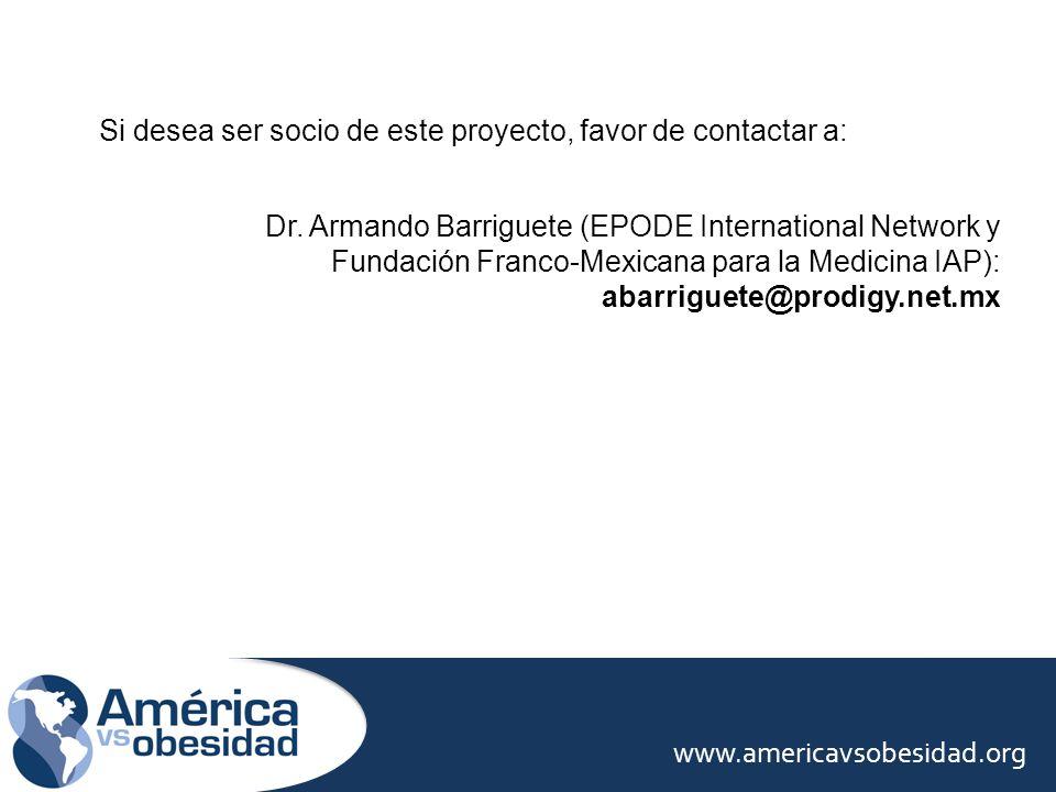 Si desea ser socio de este proyecto, favor de contactar a: