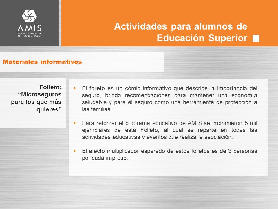 Actividades para alumnos de Educación Superior