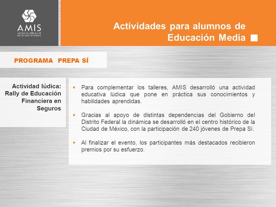 Actividades para alumnos de Educación Media
