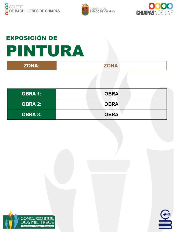 EXPOSICIÓN DE PINTURA ZONA: ZONA OBRA 1: OBRA OBRA 2: OBRA 3: